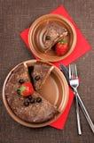 tortowy czekoladowy domowej roboty Fotografia Royalty Free