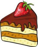 tortowy czekoladowy kawałek ilustracji