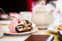 tortowy czekoladowy kawałek Zdjęcia Royalty Free