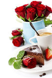 tortowy czekoladowy kawowy kawałek Obraz Royalty Free