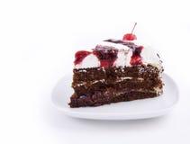 tortowy czekoladowy plasterek Zdjęcie Royalty Free