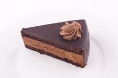 tortowy czekoladowy plasterek obraz stock