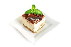 tortowy czekoladowy tiramisu Zdjęcia Stock
