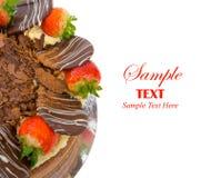 tortowy czekolady kopii przestrzeni tekst Zdjęcia Royalty Free