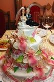 tortowy ślub Zdjęcie Royalty Free
