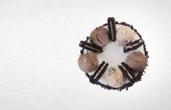 tortowy lub czekoladowy tort na tle Obraz Stock