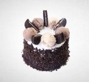 tortowy lub czekoladowy tort na tle Zdjęcia Royalty Free