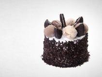 tortowy lub czekoladowy tort na tle Obraz Royalty Free