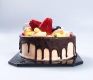 tortowy lub czekoladowy tort na tle Zdjęcie Royalty Free