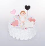 tortowy lub Ślubny tort na tle Obrazy Royalty Free