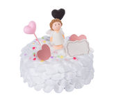 tortowy lub Ślubny tort na tle Zdjęcia Royalty Free