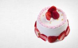 tortowy lub urodzinowy tort na tle Fotografia Royalty Free