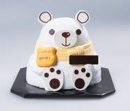tortowy lub urodzinowy tort na tle Zdjęcia Royalty Free