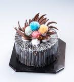 tortowy lub urodzinowy tort na tle Obrazy Royalty Free