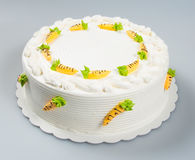 tortowy lub urodzinowy tort na tle Zdjęcie Stock