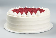 tortowy lub urodzinowy tort na tle Zdjęcie Royalty Free