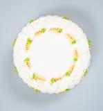 tortowy lub urodzinowy tort na tle Zdjęcia Stock