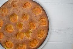 tortowy owocowy domowej roboty Oryginalny amerykański torte z morelami fotografia royalty free