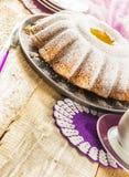 Tortowy pieczenie piec karmową ciasto cukierków deseru kawę Obrazy Stock