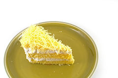 tortowy serowy czereśniowy wyśmienicie deserowy dżemu talerza biel Obrazy Royalty Free
