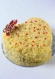 tortowy serowy czereśniowy wyśmienicie deserowy dżemu talerza biel Zdjęcia Royalty Free