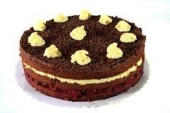 tortowy wiśni czekoladowego puddingu podśmietanie Obrazy Stock
