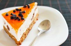 tortowych cranberries galaretowa mousse pomarańcze zdjęcie stock