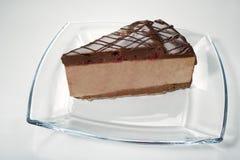 tortowych wiśni czekoladowy plasterek zdjęcia royalty free