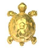 Tortue d'or sur le blanc. Image stock