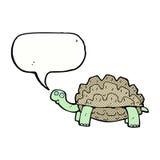 tortue de bande dessinée avec la bulle de la parole Images stock