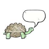 tortue de bande dessinée avec la bulle de la parole Images libres de droits