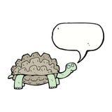 tortue de bande dessinée avec la bulle de la parole Photographie stock libre de droits