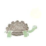tortue de bande dessinée avec la bulle de pensée Photographie stock libre de droits