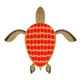 Tortue de grenat Shell Aquatic Turtle avec les pierres précieuses Photo libre de droits