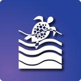 Tortue de natation illustration de vecteur