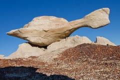 Tortue de vol - formation de roche, bad-lands de Bisti Images libres de droits