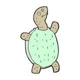 tortue heureuse de bande dessinée comique Images stock