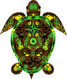 Tortue un animal, une tortue de mer, un animal avec le dessin, Photos stock