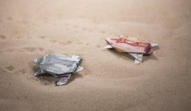 Tortues d'origami des billets de banque Images stock