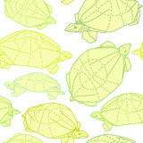 Tortues d'origami dessinant l'illustration Images stock