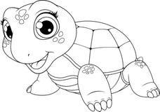 Tortuga alegre del niño stock de ilustración