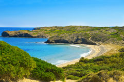 Tortuga beach in Menorca Stock Photography