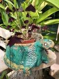 Tortuga de la arcilla del florero fotografía de archivo libre de regalías