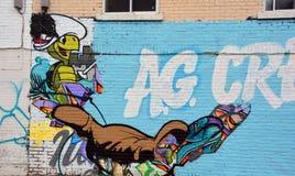 Tortuga de Touche del arte de la calle Fotos de archivo libres de regalías