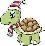 Tortuga del día de fiesta de la Navidad ilustración del vector