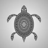 Tortuga del vector, estilo del tatuaje Foto de archivo libre de regalías