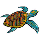 Tortuga estilizada stock de ilustración