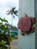 Tortuga oxidada en Kapaau Fotos de archivo libres de regalías