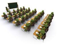 Tortuga sentada en el escritorio de la escuela Imagen de archivo