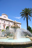 Tortuga or Turtle Fountain, Avenida Ramon de Carranza, Cadiz, Sp. Ain royalty free stock image